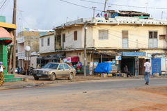 People in the suburbs of the city of Dakar in Senegal Royalty Free Stock Photography