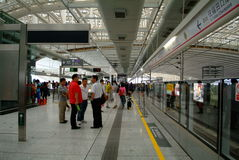 People in subway. Busy Shenzhen City of China subway Stock Photography