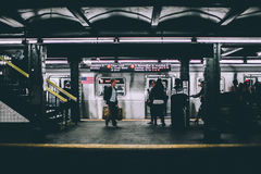 People on subway platform