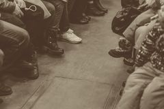 People in the subway. In St. Petersburg Royalty Free Stock Photography