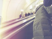 People in the subway. In St. Petersburg Royalty Free Stock Photo