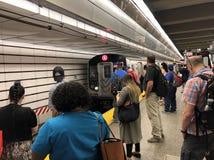 People on the subway statin Stock Image