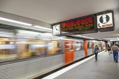 People at the subway station in Hamburg Royalty Free Stock Image