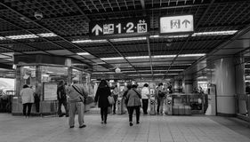 People at subway station in Taipei Royalty Free Stock Photography