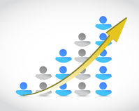 People success business graph illustration Royalty Free Stock Photo