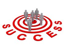 People in success target Stock Photography