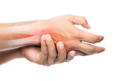 People suffering from arm pain Stock Photo