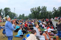 People at the summer festival royalty free stock images