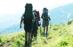People in summer hike Royalty Free Stock Photo