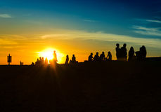 People and sun royalty free stock image