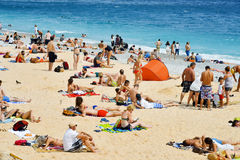 People On The Beach In Nice, France. Editorial Stock Image ...