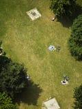 People sunbathing on lawn Stock Image