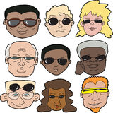 People in Sunglasses Stock Image