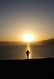 People at sunrise Stock Image