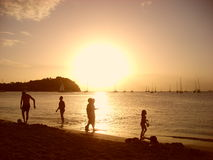 People on the sunset Stock Photography