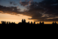 People at sunset Royalty Free Stock Images