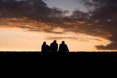 People at sunset Royalty Free Stock Photo