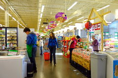 People at the Supermarket Stock Photo