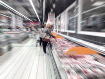 People at the supermarket Stock Photos