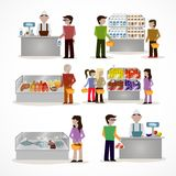 People in supermarket Royalty Free Stock Photos