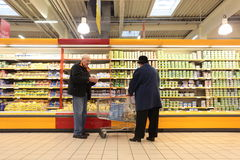 People in supermarket stock photos