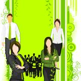 People supporting Eco friendly concept Stock Image