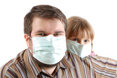 People with surgical face masks Stock Photos