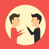 People swear. Man accuse comrade. Mention the problem Royalty Free Stock Images