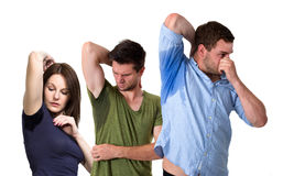 People sweating very badly under armpit Royalty Free Stock Photo