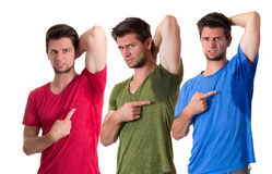 People sweating very badly under armpit stock images
