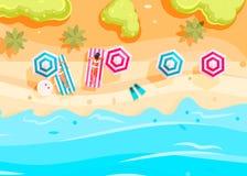 People swim and sunbathe. vector illustration