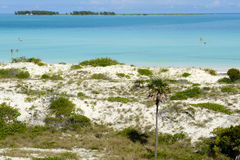 People swimming in clear water of Cayo Guillermo beach, Cuba Royalty Free Stock Image
