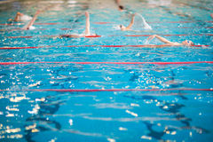 People swimming in indoor  swimming pool Royalty Free Stock Photography