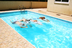 People in swimming pool Royalty Free Stock Photo