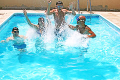People in swimming pool Stock Image