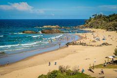 People swimming at Town beach in Port Macquarie, Australia Royalty Free Stock Photography
