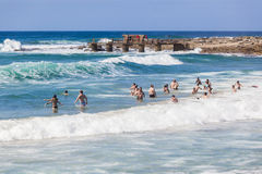 People Swimming Waves Royalty Free Stock Photography