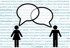 People symbol share social network talk bubbles Royalty Free Stock Photos
