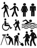 People symbols. Collection of symbols of people Royalty Free Stock Photo