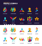 People Symbols Collection Royalty Free Stock Images