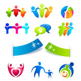 People Symbols and Stickers vector illustration