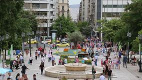 People on Syntagma Square in Athens, Greece Stock Image