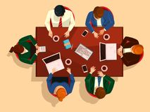 People at table, business team meeting Stock Photography