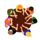 People on table royalty free illustration