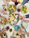 People at table eating Royalty Free Stock Image