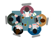 People  at  table the top view Royalty Free Stock Image