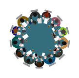 People  at  table the top view Stock Images