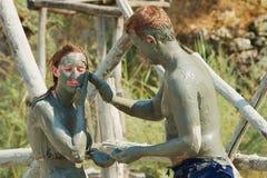 Free People Take Mud Bath In Dalyan, Turkey. Stock Photography - 88336112