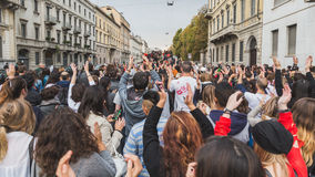 People take part in the Zombie Walk in Milan, Italy Royalty Free Stock Photo