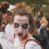People take part in the Zombie Walk in Milan, Italy Royalty Free Stock Images